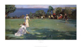 The Croquet Match Plakater af Sir John Lavery