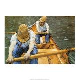 Los remeros Lámina por Gustave Caillebotte