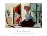 Frau vor dem Spiegel, 1937 Kunstdrucke von Pablo Picasso