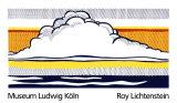 Moln och hav, 1964 Serigrafiprint (silkscreentryck) av Roy Lichtenstein