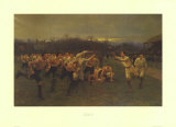 The Rugby Match Prints by  Wollen