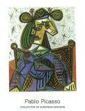 In einem Sessel sitzende Frau, 1941 Poster von Pablo Picasso