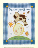 The Cow Jumped Over the Moon Poster by Sophie Harding