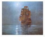 Luna creciente Láminas por Montague Dawson