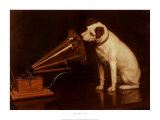 His Masters Voice Poster af Francis Barraud