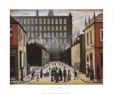 Gatebilde, Pendlebury Kunst av Laurence Stephen Lowry