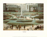 Piccadilly Gardens Posters av Laurence Stephen Lowry