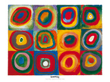 Colour Study - Squares And Concentric Circles Print by Wassily Kandinsky