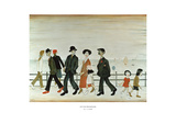 On the Promenade Posters av Laurence Stephen Lowry
