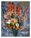 Blumenstrauß Kunstdrucke von Marc Chagall