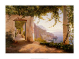 Amalfi Dia Cappuccini Plakater af Carl Frederic Aagaard