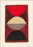 黒を背景にした赤 高品質プリント : B. オケーシー