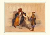 Scheik arabe fumant Posters par Achille-Constant-Théodore-Émile Prisse d'Avennes