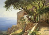 Laubengang in Amalfi Kunstdruck von Carl Frederic Aagaard