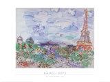 La Tour Eiffel, 1935 Kunst av Raoul Dufy