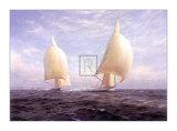 """La """"Rainbow"""" e la """"Endeavour"""" Poster di Steven Dews"""