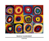 Farbstudie Posters por Wassily Kandinsky