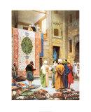 The Carpet Market Prints by Jean Leon Gerome