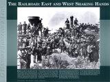 L'histoire à travers un objectif - La voie ferrée: est et ouest Affiches