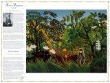 Meisterwerke der Kunst– Exotische Landschaft Poster von Henri Rousseau