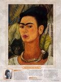 注目すべき女性アーティスト-フリーダ・カーロ-猿と一緒の自画像 ポスター : フリーダ・カーロ