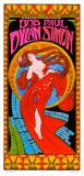 Bob Dylan & Paul Simon: Konzertplakat Kunstdruck von Bob Masse