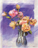Roses with a Blue Vase Posters by I. Kupper