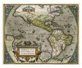 Novi Orbis Map Impressão giclée