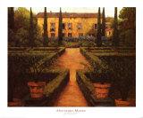 Manoir paysagé Affiches par Montserrat Masdeu