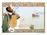 Red Star Line Giclee Print by Henri Cassiers