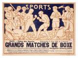 Matches de Boxe Impressão giclée por Emile Berchmans