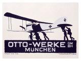 Otto-Werke, Munich Gicléetryck av Ludwig Hohlwein