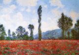 Vallmofält Affischer av Claude Monet
