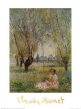 Woman Under the Willows Poster by Claude Monet