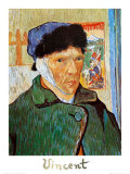Self-Portrait with Bandaged Ear, c.1889 Poster tekijänä Vincent van Gogh