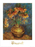 Crown Imperial Fritillaries in a Copper Vase, c.1886 Arte por Vincent van Gogh