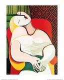 Il sogno Poster di Pablo Picasso