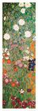 Blühender Garten mit Pfad (Detail) Poster von Gustav Klimt
