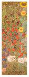 Jardín con girasoles Láminas por Gustav Klimt