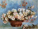 Chrysanthemums, c.1878 Posters af Claude Monet