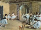 Ballettsaal der Oper in der Rue Peletier Kunstdrucke von Edgar Degas