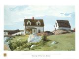 Houses Of Squam Light Posters af Edward Hopper