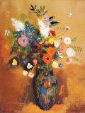 Blomsterbuket, Bouquet of Flowers Poster af Odilon Redon