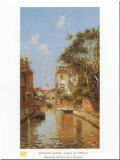 Canal in Venice Print by Antonio Reyna