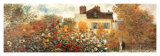 The Artist's Garden in Argenteuil (detail) Poster by Claude Monet