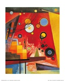 Heavy Red Poster by Wassily Kandinsky