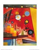 Zwaar rood Affiches van Wassily Kandinsky