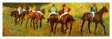 Racehorses in a Landscape (detail) Plakat af Edgar Degas
