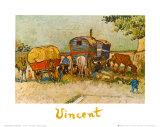 Caravans Encampment of Gypsies Posters by Vincent van Gogh