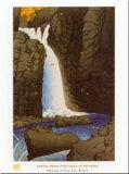 Yuki Falls at Shiobara Affischer av Kawase Hasui